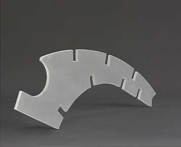 Water jet aluminium cutting example 2